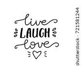 "Vector Lettering ""live  Laugh ..."