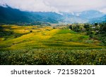 view of terraced rice field ... | Shutterstock . vector #721582201