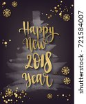 happy new year decoration with... | Shutterstock .eps vector #721584007