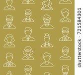 people symbols seamless pattern.... | Shutterstock .eps vector #721584301