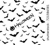 vector pattern for halloween... | Shutterstock .eps vector #721586581