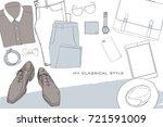 vector illustration of hand... | Shutterstock .eps vector #721591009
