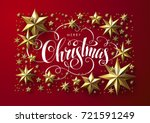 christmas postcard with... | Shutterstock .eps vector #721591249