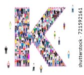 letter k  group of people ... | Shutterstock .eps vector #721592161