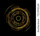 yellow circle futuristic... | Shutterstock .eps vector #721593124