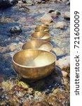tibetan singing bowls into the... | Shutterstock . vector #721600009