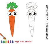 single funny carrot to be... | Shutterstock .eps vector #721604605