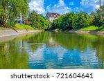 summer cityscape   river... | Shutterstock . vector #721604641