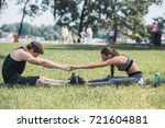 side view of young couple in... | Shutterstock . vector #721604881