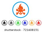 death fire rounded icon. style... | Shutterstock .eps vector #721608151
