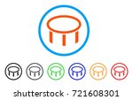 burner nozzle rounded icon.... | Shutterstock .eps vector #721608301