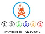 death fire rounded icon. style... | Shutterstock .eps vector #721608349