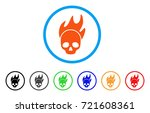 death fire rounded icon. style... | Shutterstock .eps vector #721608361