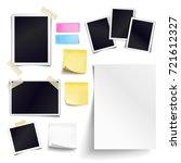 set of blank paper objects.... | Shutterstock . vector #721612327