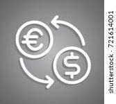 money exchange icon flat... | Shutterstock .eps vector #721614001