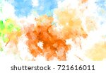 brushed painted abstract... | Shutterstock . vector #721616011