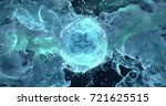 Abstract Cyan Particles Flame...