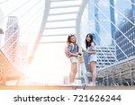 beautiful asian girl travel... | Shutterstock . vector #721626244