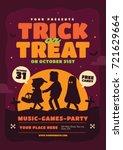 halloween poster template.... | Shutterstock .eps vector #721629664