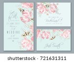 vector wedding invitation cards ... | Shutterstock .eps vector #721631311