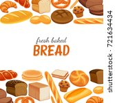 poster template with bread... | Shutterstock .eps vector #721634434