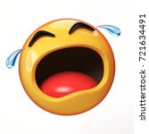 crying emoji isolated on white... | Shutterstock . vector #721634491