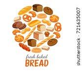 vector illustration bread...   Shutterstock .eps vector #721635007