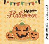 happy halloween party... | Shutterstock .eps vector #721636615