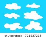 different types of white clouds.... | Shutterstock .eps vector #721637215