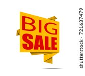 big sale banner. yellow and red ... | Shutterstock .eps vector #721637479