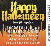 happy halloween. fresh new... | Shutterstock .eps vector #721641295