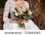 wedding bouquet | Shutterstock . vector #721643365