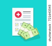 medical document with money... | Shutterstock . vector #721643545