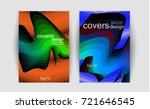 poster covers set with modern...   Shutterstock .eps vector #721646545
