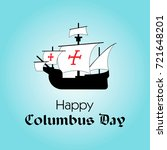 happy columbus day. the trend...   Shutterstock .eps vector #721648201