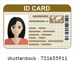 id card. flat design style. | Shutterstock . vector #721655911