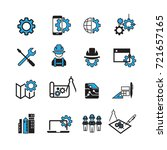 simple engineer icons set vector | Shutterstock .eps vector #721657165