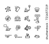 business and startup icons set  ... | Shutterstock .eps vector #721657219