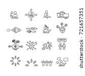 business and startup icons set... | Shutterstock .eps vector #721657351
