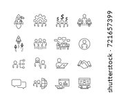 business and person icons set... | Shutterstock .eps vector #721657399