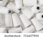 top view of a lot of yarn... | Shutterstock . vector #721657954