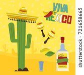 mexican elements | Shutterstock .eps vector #721658665