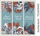 halloween party vertical design ... | Shutterstock .eps vector #721659445