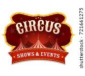 circus banner with big top ... | Shutterstock .eps vector #721661275