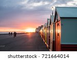 Colorful Beach Huts During...