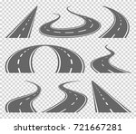 winding curved road or highway... | Shutterstock . vector #721667281
