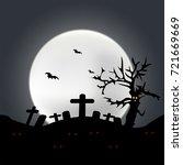 halloween night background in... | Shutterstock .eps vector #721669669