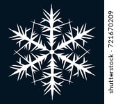 white snowflake to decorate the ... | Shutterstock .eps vector #721670209