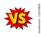 vector illustration of vs as... | Shutterstock .eps vector #721670824