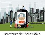 e voting concept illustration...   Shutterstock .eps vector #721675525